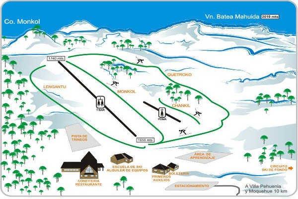 Pistas Centro de Ski Batea Mahuida