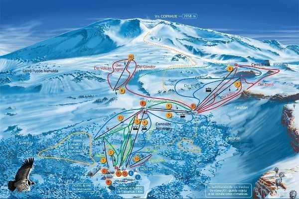 Pistas Centro de Ski Caviahue