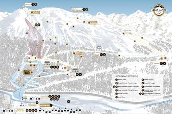 Pistas Centro de Ski Cerro Castor