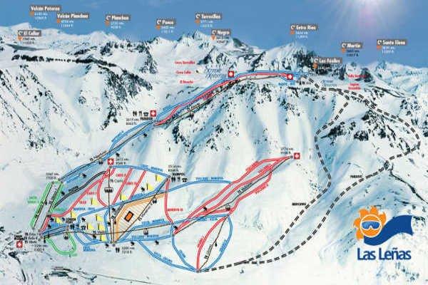 Pistas Centro de Ski Las Leñas